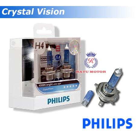 PHILIPS Crystal Vision Halogen H4 12V 60/55 W Colour 4.300K