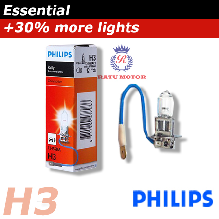 PHILIPS Rally Halogen H3 12V 100 Watt Colour 3.500K