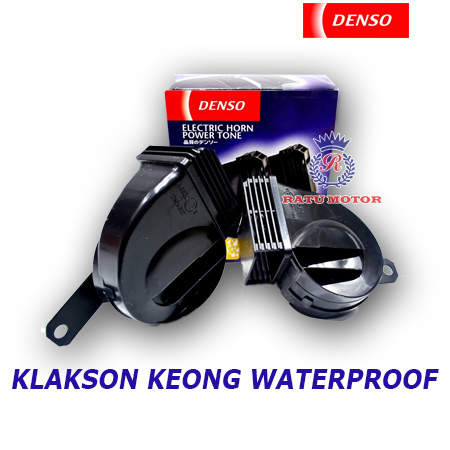 Klakson DENSO Keong Hitam NEW WATERPROOF tanpa Relay