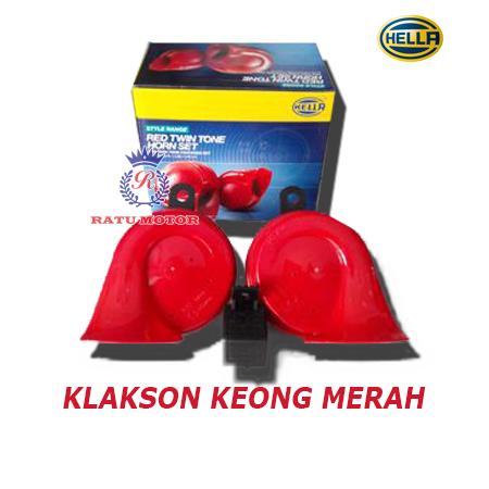 Klakson HELLA Keong Merah + Relay