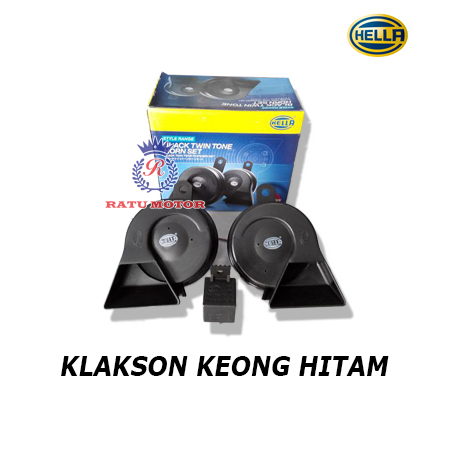 Klakson HELLA Keong Hitam + Relay
