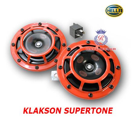 Klakson HELLA Supertone Merah + Relay
