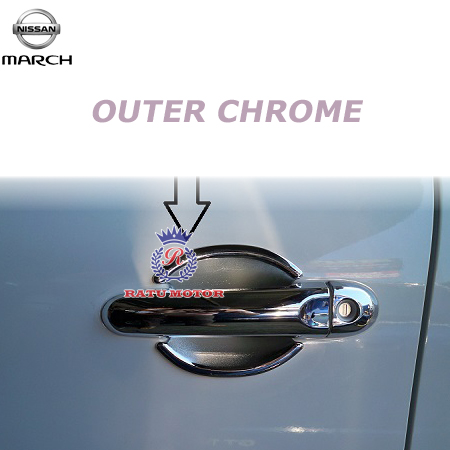 Outer Handle Nissan MARCH Chrome
