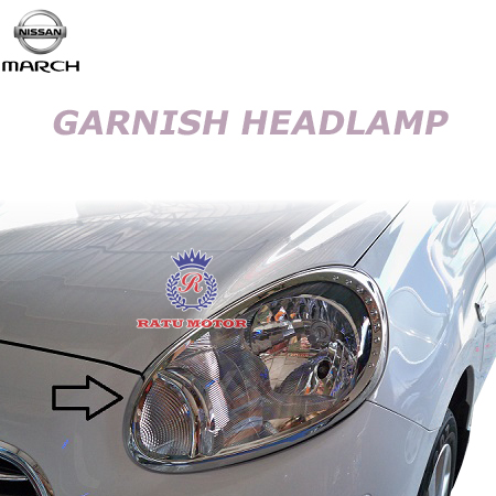 GARNISH Headlamp MARCH Chrome