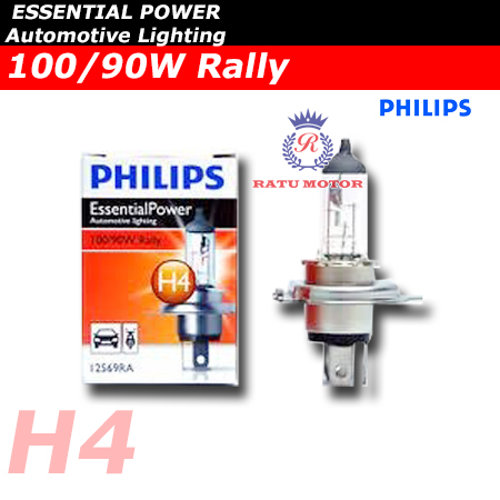 PHILIPS Rally Halogen H4 12V 100/90 Watt Colour 3.500K