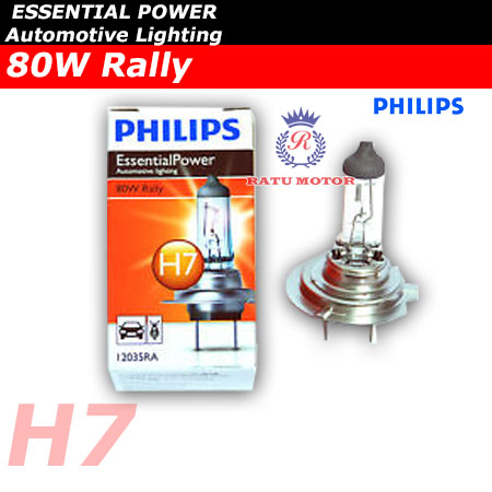 PHILIPS Rally Halogen H7 12V 80 Watt Colour 3.500K