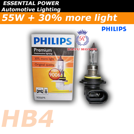 PHILIPS Premium Halogen HB4 12V 55 Watt Colour 3.500K