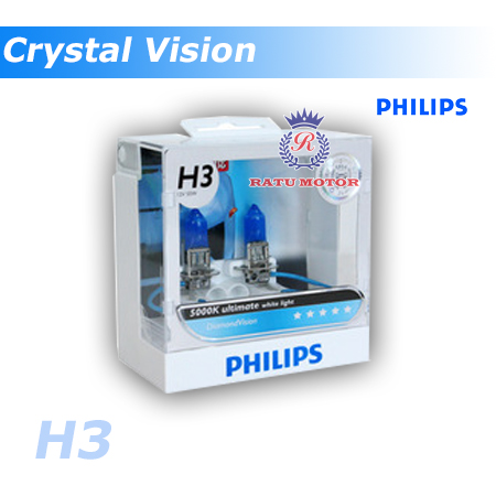 PHILIPS Crystal Vision Halogen H3 12V 55 Watt Colour 4.300K