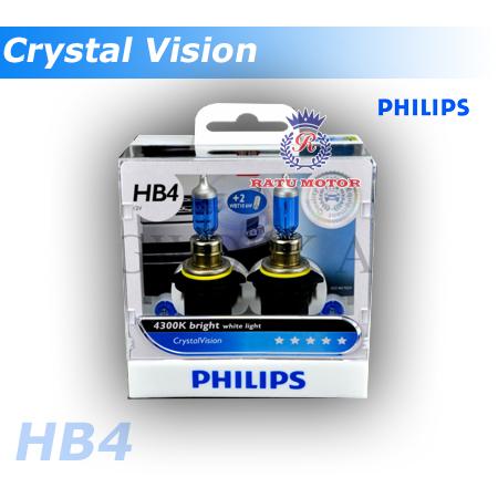 PHILIPS Crystal Vision Halogen HB4 9006 12V 65 Watt Colour 4.300K