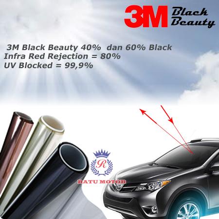 Kaca Film 3M BLACK BEAUTY Full Depan