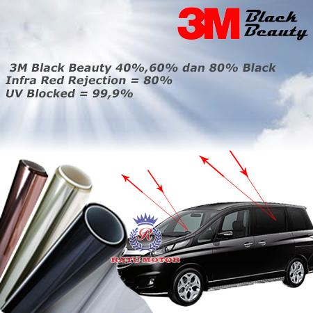 Kaca Film 3M BLACK BEAUTY Samping Belakang (SKKB) + Full Depan