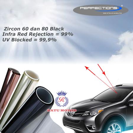 Kaca Film Perfection ZIRCON 60 (60%) & 80 (80%) Samping Belakang (SKKB)