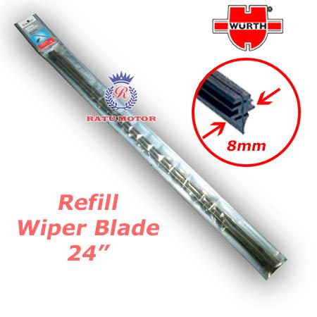 Refill Wiper WURTH 24 inch Model Lebar 8,5 mm (@ 2 Pcs)