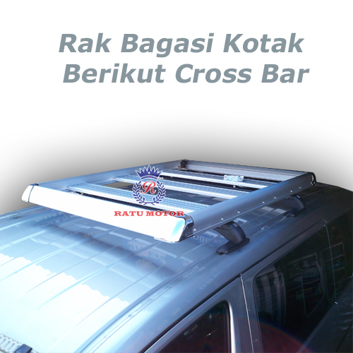 RAK BAGASI KOTAK Silver + Cross Bar Sport Rack