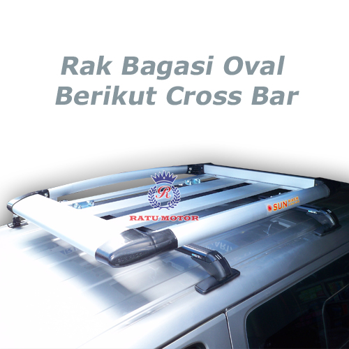 RAK BAGASI OVAL Silver + Cross Bar Sport Rack
