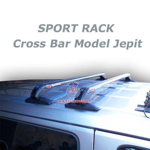 Cross Bar SPORT RACK Model Jepit ke Bodi Mobil