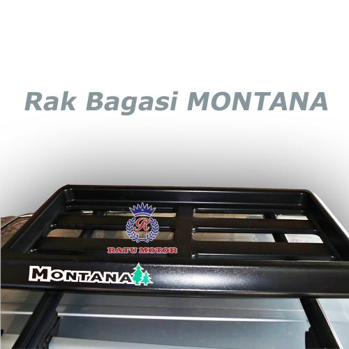 Rak Bagasi MONTANA Plastik PU Hitam (Tanpa Cross Bar)