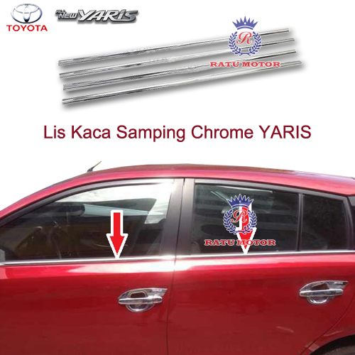 List Kaca Samping All New YARIS 2015 Tempel
