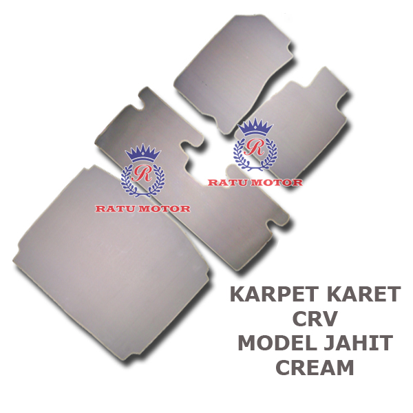 Karpet Karet Jahit Grand CRV 2014-2016 Cream