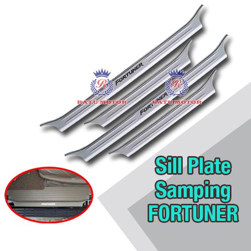 Sill Plate Samping FORTUNER 2005-2015 Plastik Cream