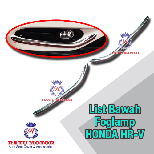 List Bawah Foglamp Honda HRV 2015-2018 Chrome