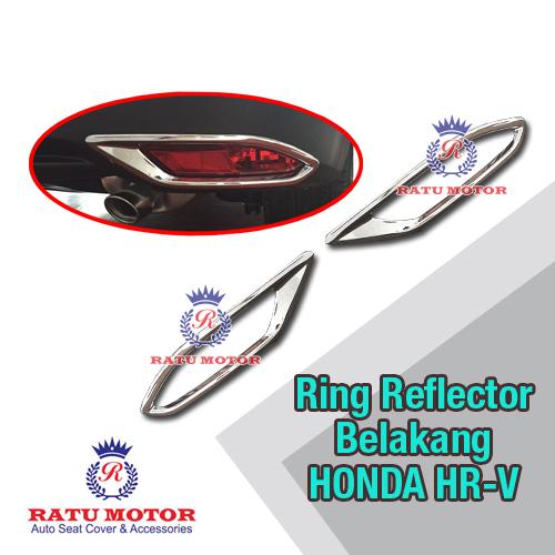 Ring Reflektor Bumper Belakang Honda HRV 2015-2018 Chrome