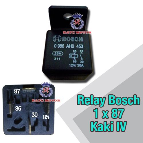 Relay BOSCH Kaki 4 , 1x87  12Volt