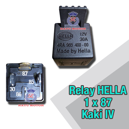 Relay HELLA Kaki 4 , 1x87 12Volt Made by Hella