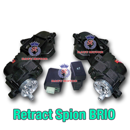 Motor RETRACT Spion BRIO 2013-2015 + Auto Retract (Saklar Model Biasa)