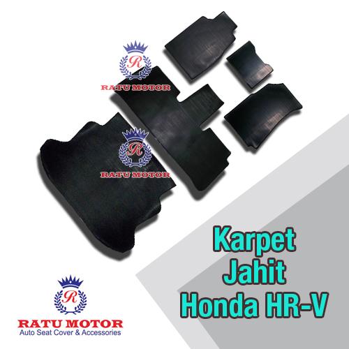 Karpet Karet Jahit Honda HRV 2015-2018 Hitam