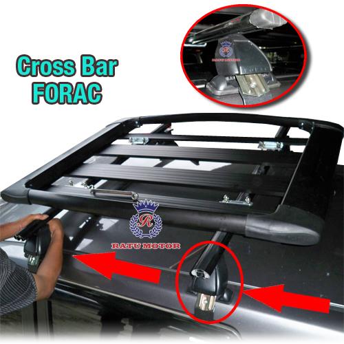Cross Bar FORAC Model Jepit Body (Tidak termasuk Rak Bagasi)