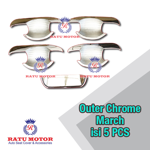 Outer Handle Nissan MARCH 5 Pcs Chrome