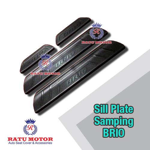 Sill Plate Samping BRIO 2013-2017 Plastik Hitam
