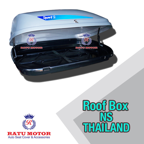 NS ROOF BOX Sporty Warna Silver Two Tone RoofBox (Thailand)