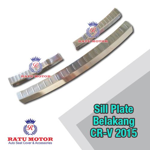 Sill Plate Belakang Grand CRV 2015 3 Pcs (Luar+Dalam) Stainless