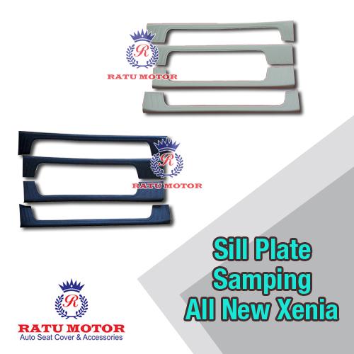 Sill Plate Samping All New XENIA 2012-2015 Plastik Hitam / Cream