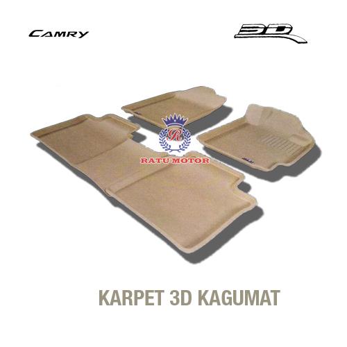 Karpet 3D KAGUMAT CAMRY 2007 - 2011  Bahan Polyester MAXpider