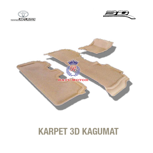 Karpet 3D KAGUMAT LAND CRUISER 2008 - 2011 Bahan Polyester MAXpider