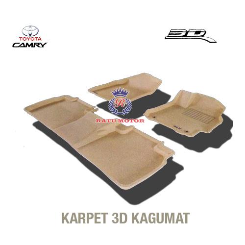 Karpet 3D KAGUMAT CAMRY 2012  Bahan Polyester MAXpider