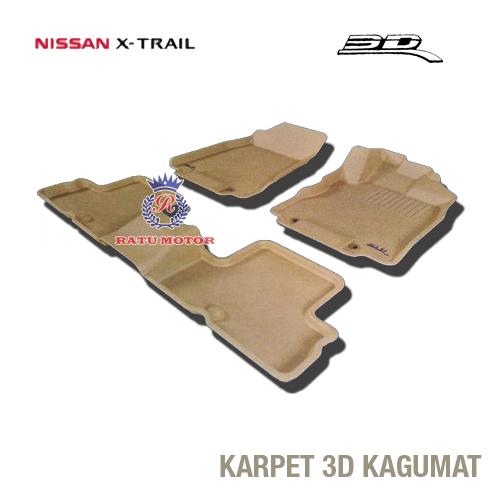 Karpet 3D KAGUMAT XTRAIL 2008 Bahan Polyester MAXpider