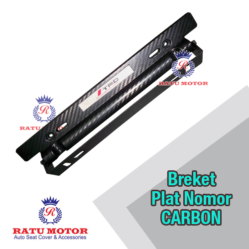 Bracket / Dudukan Plat No Carbon Adjustable