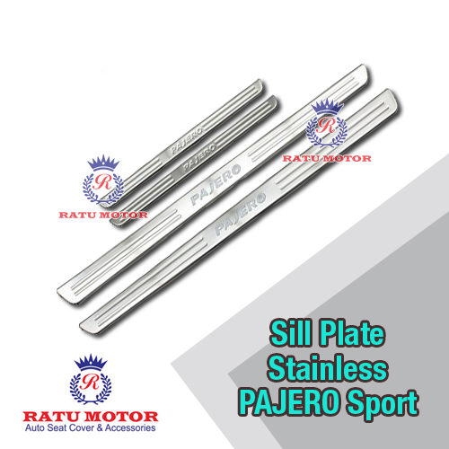 Sill Plate Samping PAJERO Sport 2014-2015 Stainless