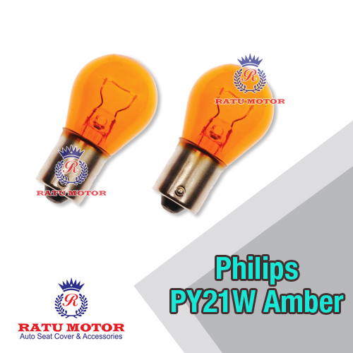 Bohlam PHILIPS PY21W 12V Amber (Orange) Putar Kaki 1 (@ 2 Pcs)