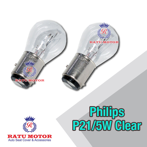Bohlam PHILIPS P21/5W 12V Clear Kaki 2 (@ 2 Pcs)