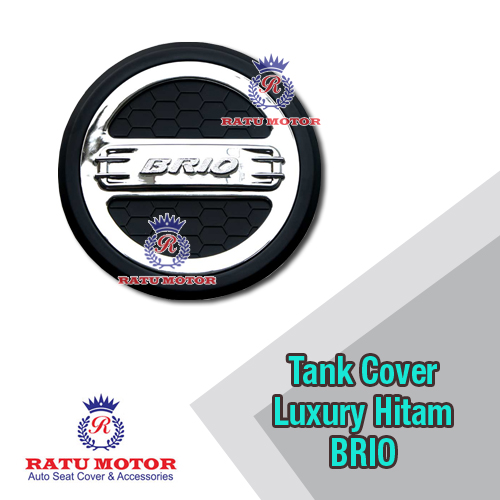Tank Cover BRIO 2013-2017 Model Luxury Hitam Chrome