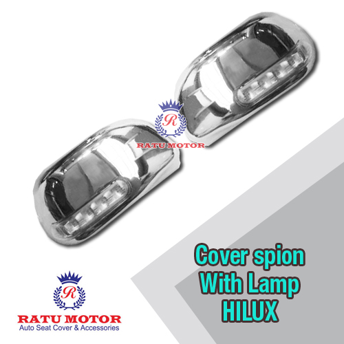 Cover Spion HILUX All Varian Chrome +Lamp