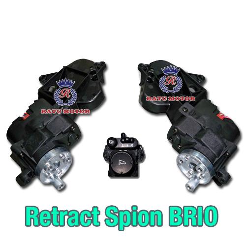 Motor RETRACT Spion BRIO 2013-2015 + Auto Retract (Saklar Model Original)