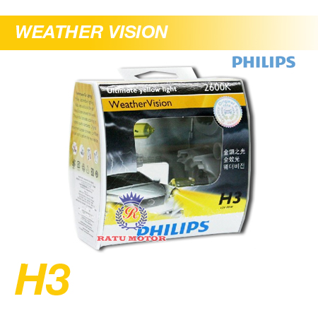 PHILIPS Weather Vision Halogen H3 12V 55W