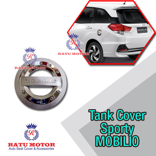 Tank Cover MOBILIO All Varian Model Sporty Chrome