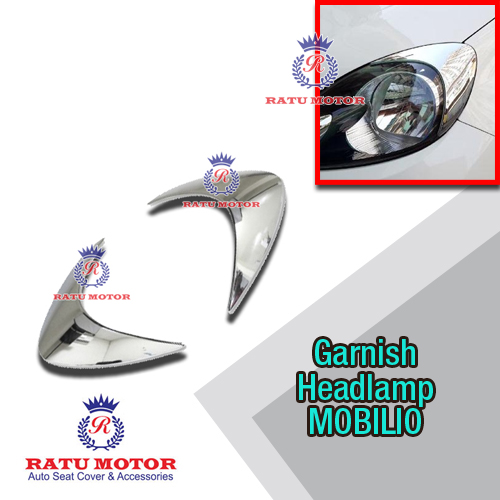 Garnish Headlamp MOBILIO Non RS Model Prestige Chrome